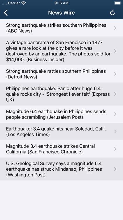 Earthquake Monitor screenshot-7