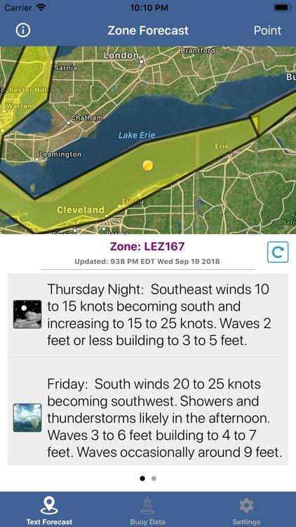Lake Erie Boating Weather screenshot-4