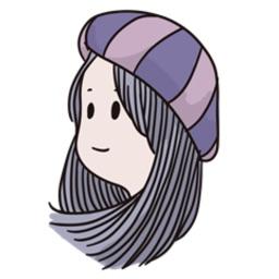 Hats Woman Sticker