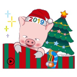 Happy New Year Animated Pig
