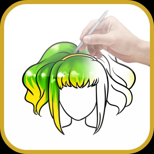 How to draw Hairdo - Hairstyle