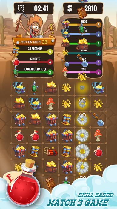 Gold Miner & Match 3 Tycoon screenshot 2