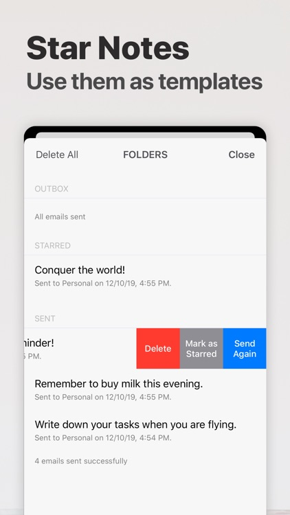 Email Me - Note Taking App screenshot-5