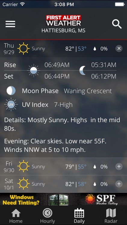 WDAM 7 First Alert Weather screenshot-3