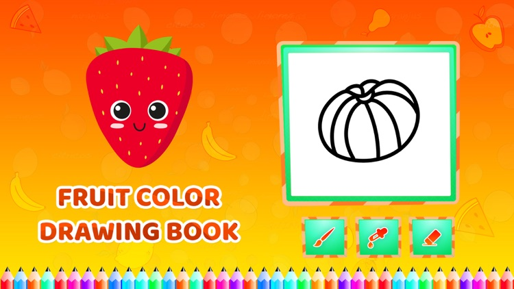 Fruit Colour Drawing Book