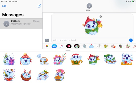 Christmas Snow - Xmas Sticker screenshot 3