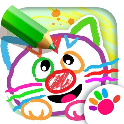 お絵かき 絵画 学習 子供 ゲーム 幼児 3 塗り絵 色ぬり