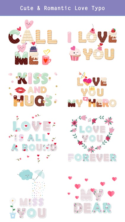 Cute Love Typography Lettering