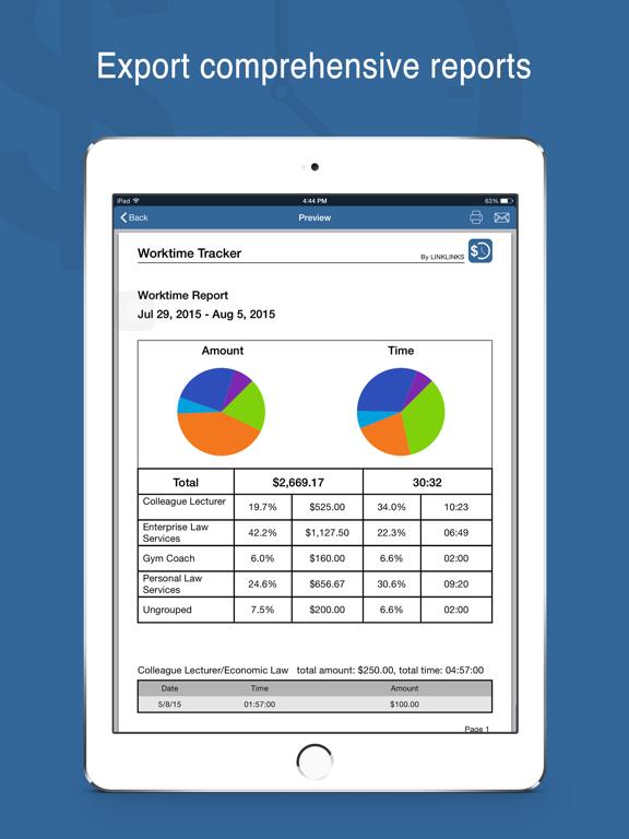 Worktime Tracker Pro screenshot