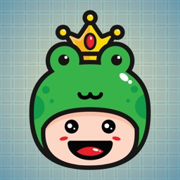 Sticker Me Frog Mascot Boy