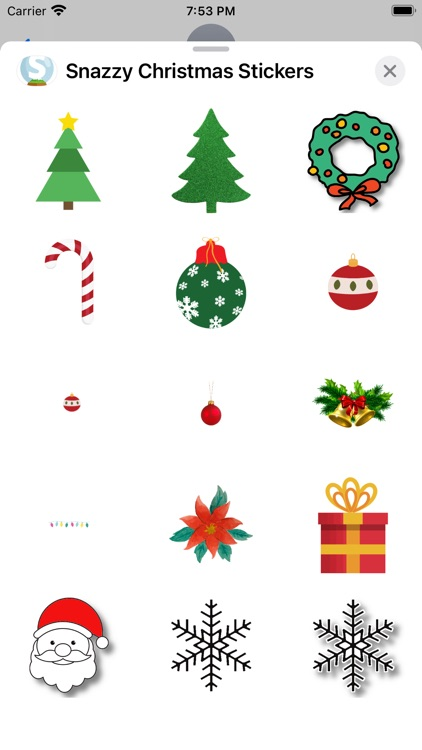 Snazzy Christmas Stickers
