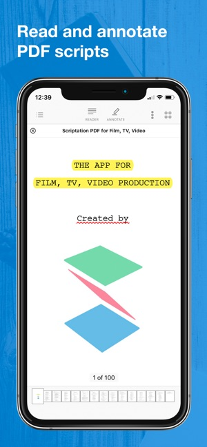 Scriptation PDF for Film & TV en App Store