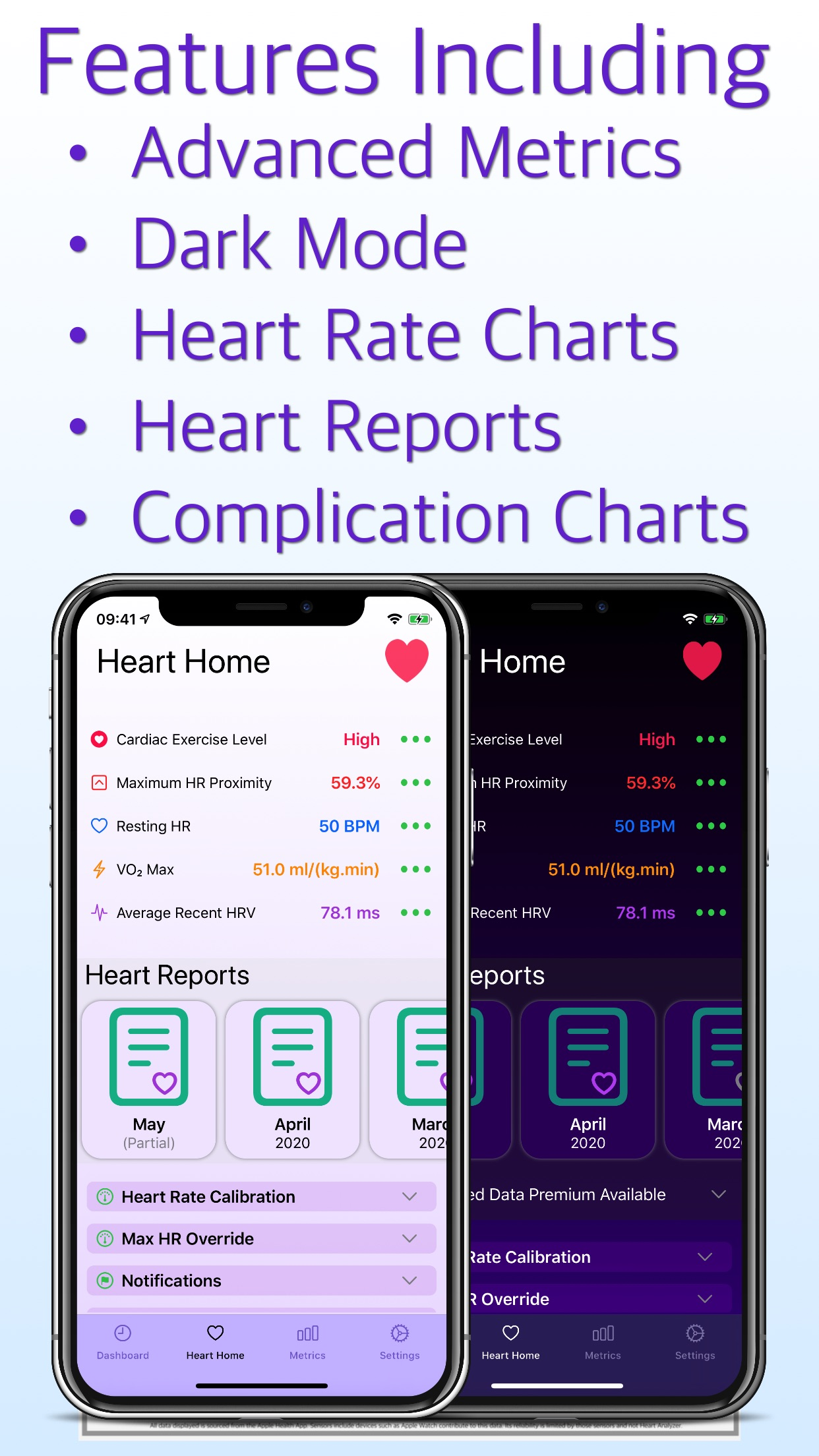 Screenshot do app Heart Analyzer