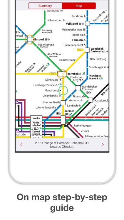 Hamburg Metro - Map & Route screenshot-3