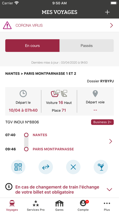 messages.download TGV INOUI PRO software