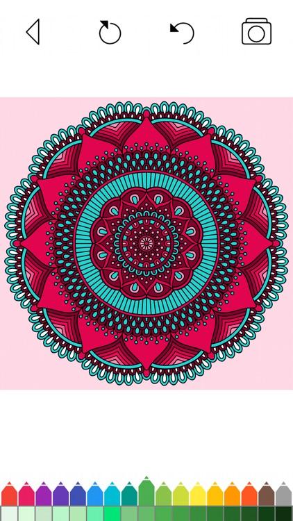 Mandala Coloring Pages Games screenshot-7