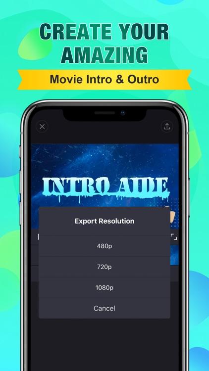Intro Aide: Outro Video Maker screenshot-7