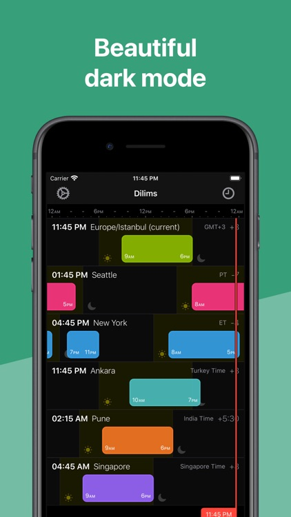 Dilims - Time zones app