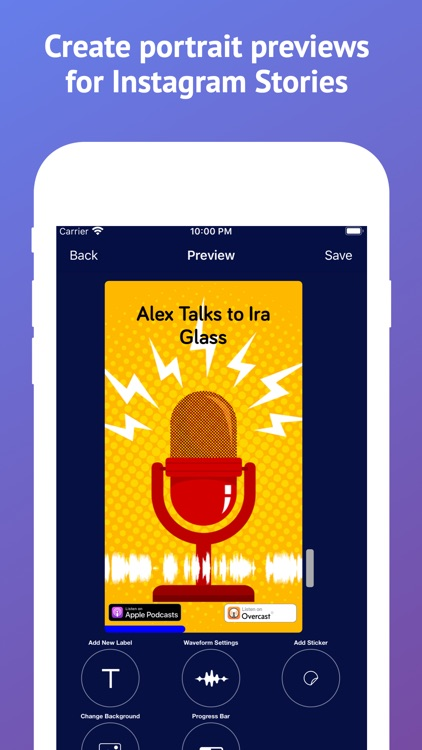 Podcast to Video preview maker screenshot-0