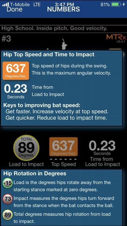 Hitting Metrics - MTRx screenshot-3