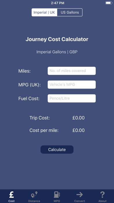 Image of JourneyCalc - Cost Calculator for iPhone
