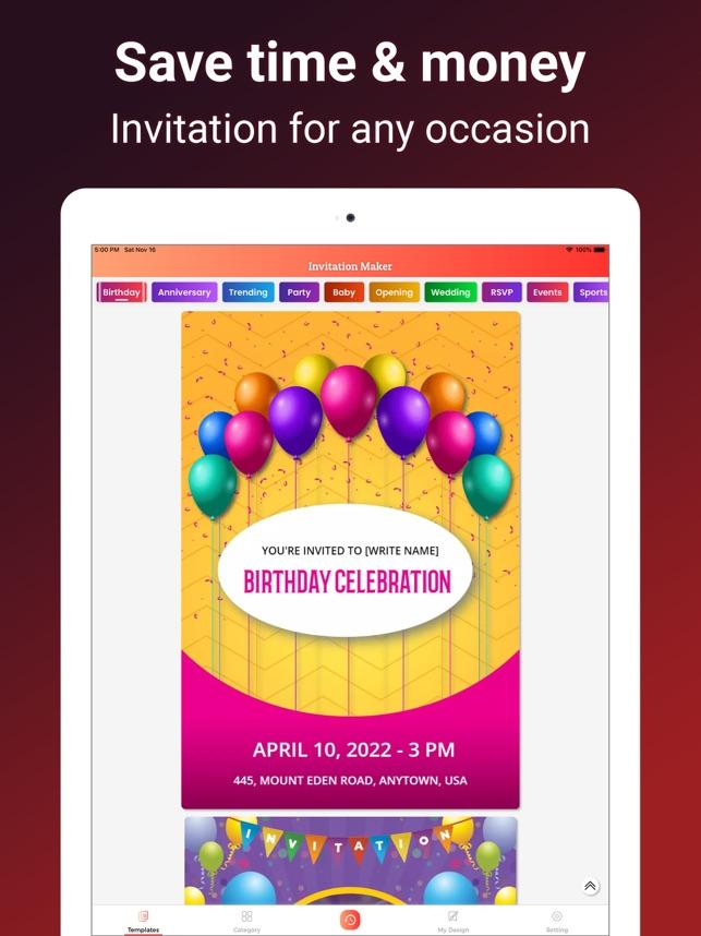 1Invite Invitation Maker On The App Store