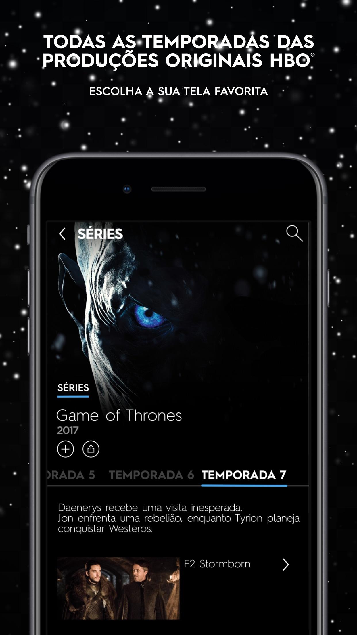 Screenshot do app HBO GO ®