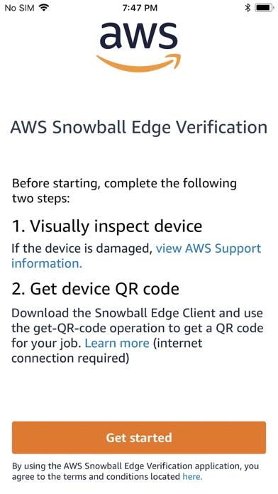Herunterladen AWS Snowball Edge Verification für Android