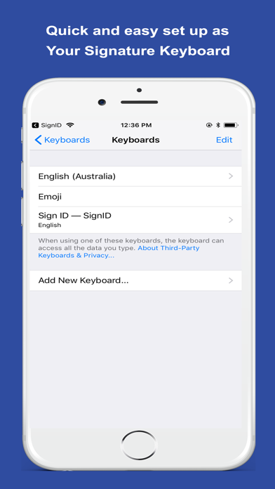 SignID Signature Keyboard screenshot 5