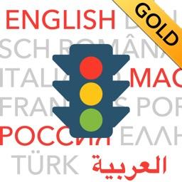 Führerschein multilingual GOLD