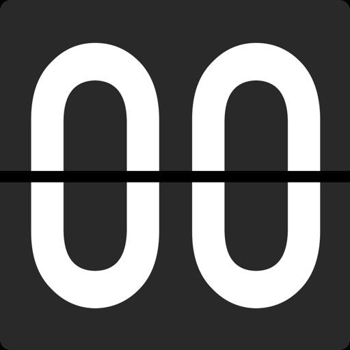 Flip Clock - フルスクリーンの目覚まし時計