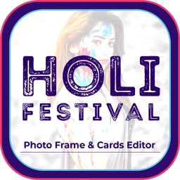 Holi Photo Frame & Card Editor