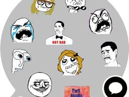 Troll Face Emoji Stickers