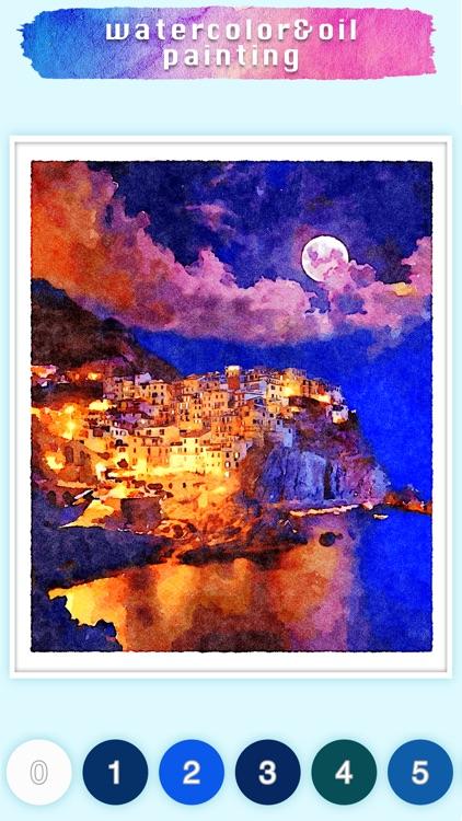 Watercolor & Oil painting game screenshot-5