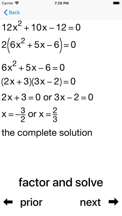 Quadratic Factoring screenshot-9