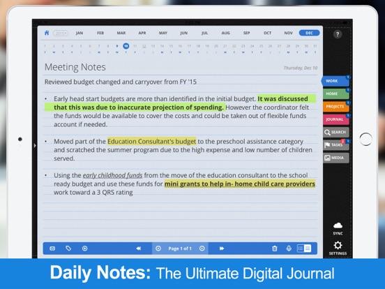 Daily Notes + Tasks screenshot
