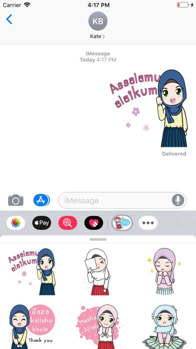 Cute Hijab Stickers Pack app image