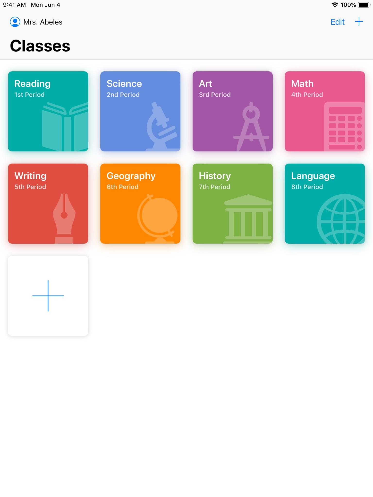 Screenshot do app Sala de Aula