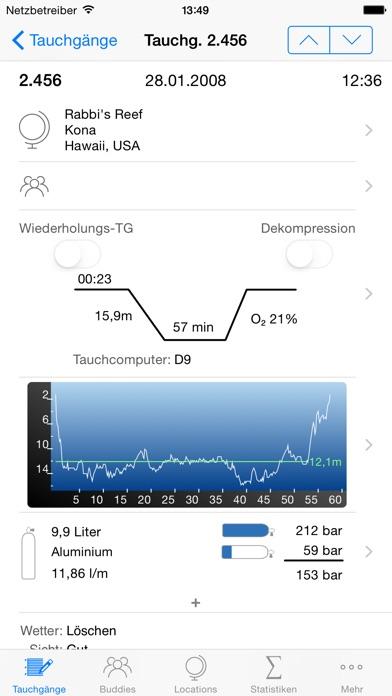 Screenshot for Dive Log in Germany App Store