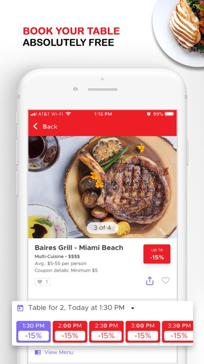 dinely: restaurant discounts screenshot-3