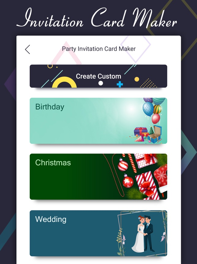 Party Invite Card Maker On The App Store