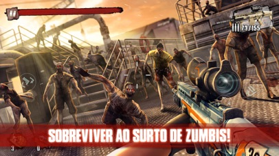 Screenshot for Zombie Frontier 3: Sniper FPS in Portugal App Store