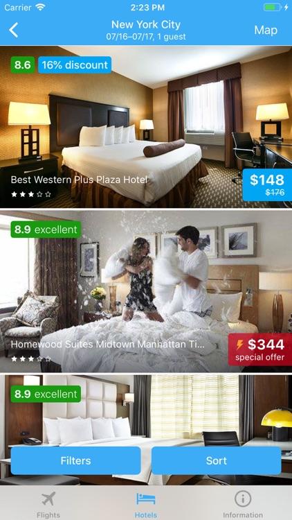 Flight tickets & Search hotel screenshot-6