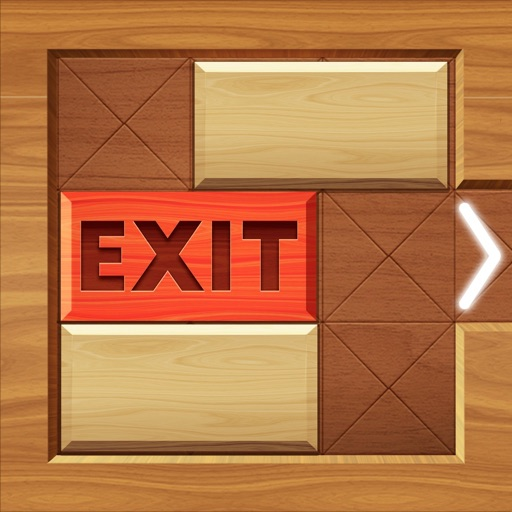 EXIT : unblock red wood block