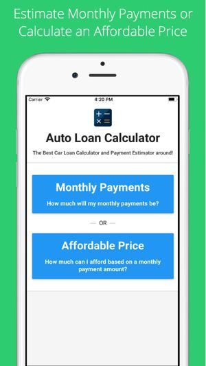 Estimate My Car Payment >> Car Loan Calculator Estimate On The App Store