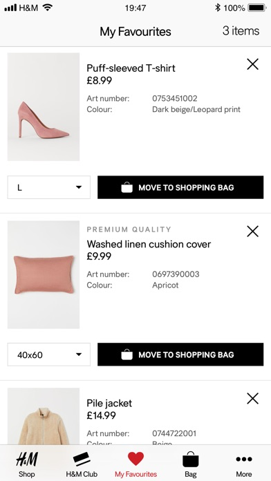 Screenshot for H&M App in Belgium App Store