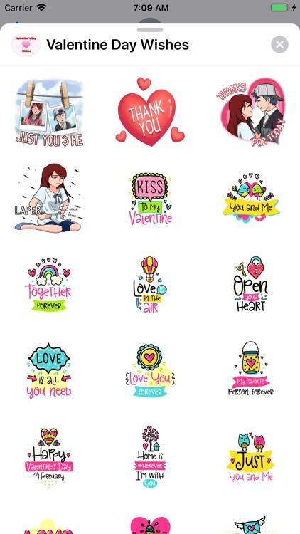 Valentine Day Wishes Stickers screenshot-3