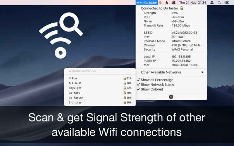 Wifi Signal Strength Explorer Screenshot 02 57tm51n