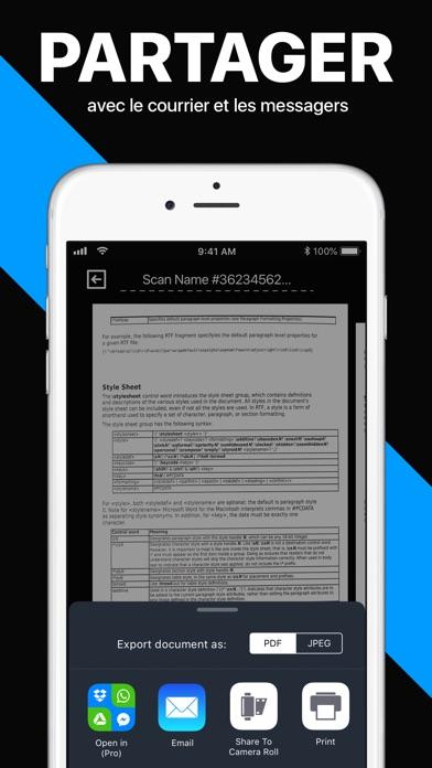 Screenshot for Scanner: numérisation de PDF in Lebanon App Store