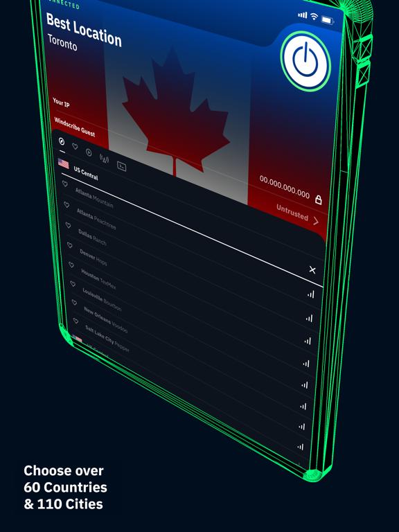iPad Image of Windscribe VPN